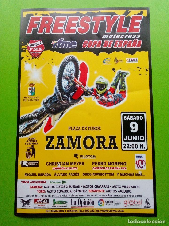 FRESTYLE- MOTOCROSS COPA DE ESPANA.PLAZA DE TOROS ZAMORA (Coleccionismo Deportivo - Carteles otros Deportes)