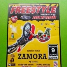 Coleccionismo deportivo: FRESTYLE- MOTOCROSS COPA DE ESPANA.PLAZA DE TOROS ZAMORA. Lote 124252611