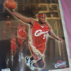 Coleccionismo deportivo: POSTER LEBRON JAMES. AÑOS 2000. REVISTA NBA. Lote 126459467