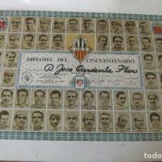 Coleccionismo deportivo: DIPLOMA CINCUENTENARIO VOLTA CICLISTA CATALUNYA 1971 FOTOS CAMPEONES DESDE 1911 . SANS CICLISMO. Lote 126826859