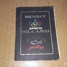 Coleccionismo deportivo: CARPETA BARCELONA'92...CON 8 LÁMINAS DE OLIMPIADAS ANTERIORES... Lote 127656215