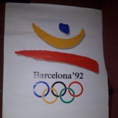 Coleccionismo deportivo: CARTEL ORIGINAL OLIMPIADAS BARCELONA 92 BUEN ESTADO. Lote 128176324