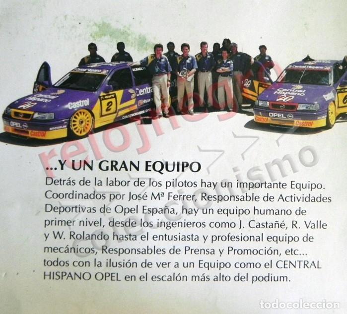 Coleccionismo deportivo: PÓSTER FOLLETO PUBLICITARIO EQUIPO CENTRAL HISPANO OPEL - COCHE VECTRA ALBACETE ARQUÉ DEPORTE ESPAÑA - Foto 5 - 128693983