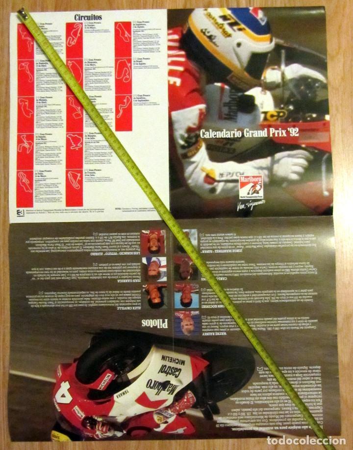 Coleccionismo deportivo: POSTER MOTOCICLISMO GRAND PRIX 92 MOTO GP MARLBORO WORLD CHAMPIONSHIP TEAM - Foto 2 - 129268127