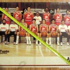 Coleccionismo deportivo: POSTER BALONCESTO BASKET BALL CAI ZARAGOZA AÑOS 80. Lote 129282159