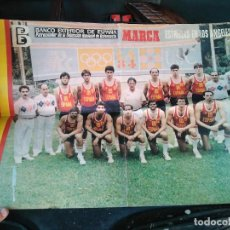 Coleccionismo deportivo: CARTEL SELECCION ESPAÑOLA BALONCESTO . Lote 132573554