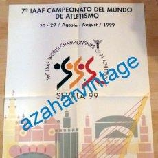 Coleccionismo deportivo: SEVILLA, 1999, CARTEL CAMPEONATO DEL MUNDO DE ATLETISMO, MUY ESCASO, 48X68 CMS. Lote 132973170