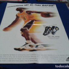 Coleccionismo deportivo: POSTER CARTEL ADIDAS ( KOBE BRYANT, L,A, LAKERS ) PROMO ZAPATILLAS FEET YOU WEAR ELEVATION 59X45CM. Lote 133774222