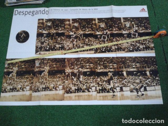 MEGA POSTER CARTEL ADIDAS ( KOBE BRYANT, L,A, LAKERS ) CAMPEON DE MATES NBA 8 FEBRERO 1997 DE 80X57 (Coleccionismo Deportivo - Carteles otros Deportes)