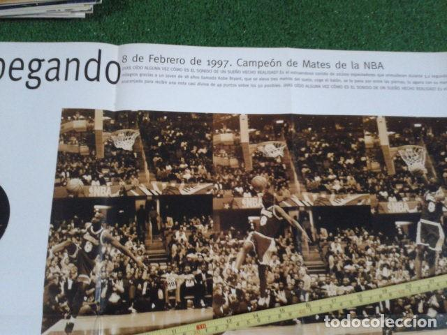 Coleccionismo deportivo: MEGA POSTER CARTEL ADIDAS ( KOBE BRYANT, L,A, LAKERS ) CAMPEON DE MATES NBA 8 FEBRERO 1997 DE 80X57 - Foto 2 - 133774570