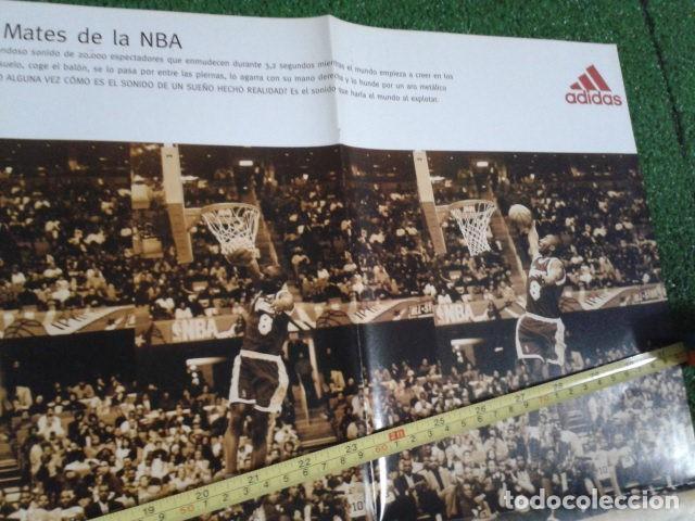 Coleccionismo deportivo: MEGA POSTER CARTEL ADIDAS ( KOBE BRYANT, L,A, LAKERS ) CAMPEON DE MATES NBA 8 FEBRERO 1997 DE 80X57 - Foto 3 - 133774570