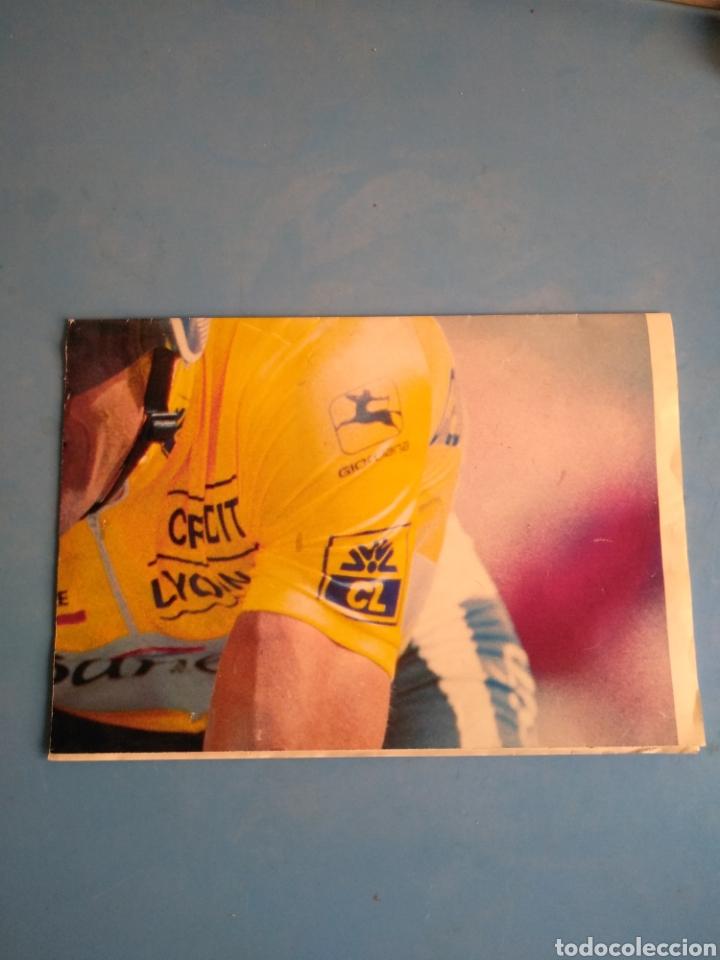 Coleccionismo deportivo: Póster Miguel Indurain ,en unos de sus tours, diario AS - Foto 4 - 133808158