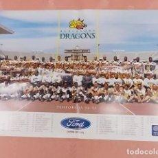 Coleccionismo deportivo: CARTEL. BARCELONA DRAGONS. TEMPORADA 94-95. Lote 133867538