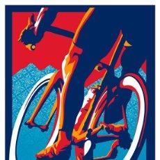 Coleccionismo deportivo: CICLISMO. BICICLETA. BIKE HARD. LÁMINA CARTEL 45 X 32 CMS.. Lote 134838898