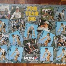 Coleccionismo deportivo: CARTEL EQUIPO CICLISTA PDM 1991. Lote 135867370