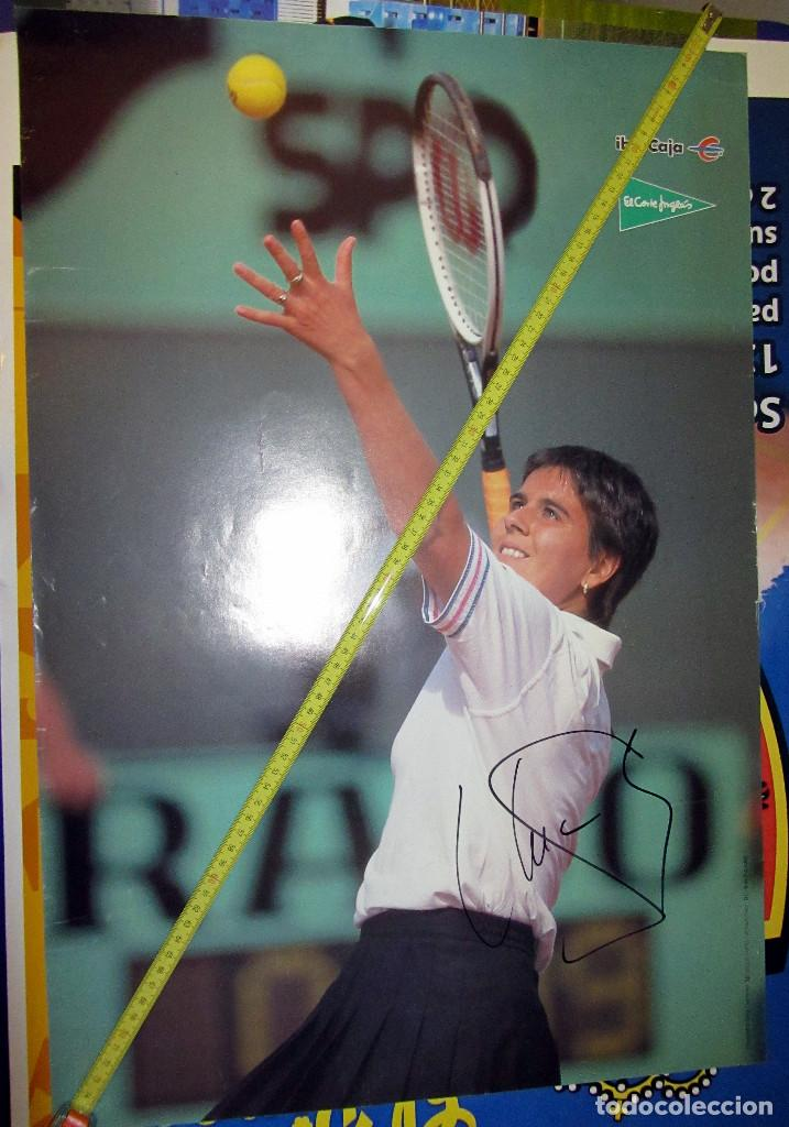 POSTER CONCHITA MARTINEZ TENIS FIRMADO AUTOGRAFO (Coleccionismo Deportivo - Carteles otros Deportes)