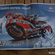 Coleccionismo deportivo: POSTER DE MARC MARQUEZ (REQUIPO REPSOL HONDA).MEDIDAS 42 X 30 CMS. Lote 136265938