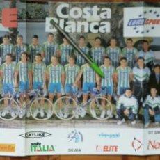 Coleccionismo deportivo: EQUIPO CICLISTA KELME 1997. Lote 136347766