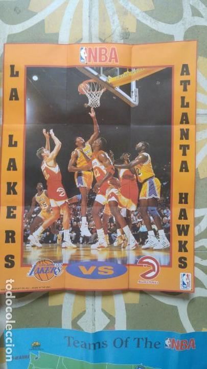 Coleccionismo deportivo: 4 POSTERS NBA AÑO 1992 MADE IN THE USA - Foto 2 - 136370630