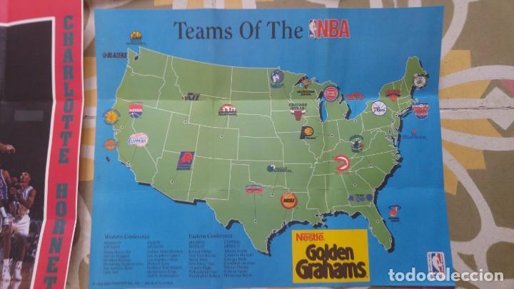 Coleccionismo deportivo: 4 POSTERS NBA AÑO 1992 MADE IN THE USA - Foto 3 - 136370630