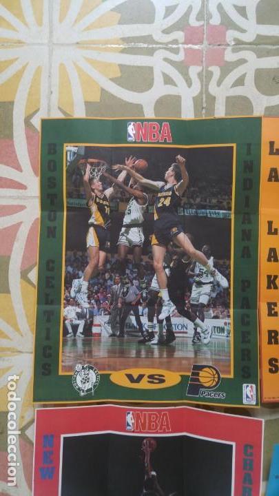 Coleccionismo deportivo: 4 POSTERS NBA AÑO 1992 MADE IN THE USA - Foto 5 - 136370630