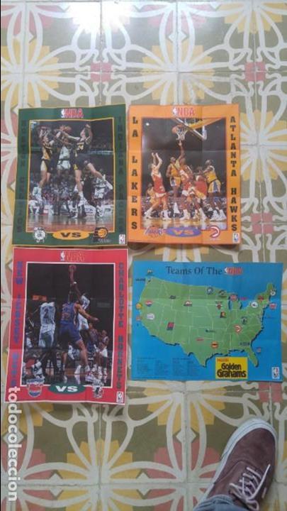 4 POSTERS NBA AÑO 1992 MADE IN THE USA (Coleccionismo Deportivo - Carteles otros Deportes)
