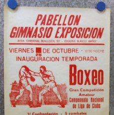 Coleccionismo deportivo: BOXEO PABELLON GIMNASIO EXPOSICION, CASTELLON CONTRA VALENCIA INAUGURACION 25 TEMORADA AÑOS 80. Lote 136551966