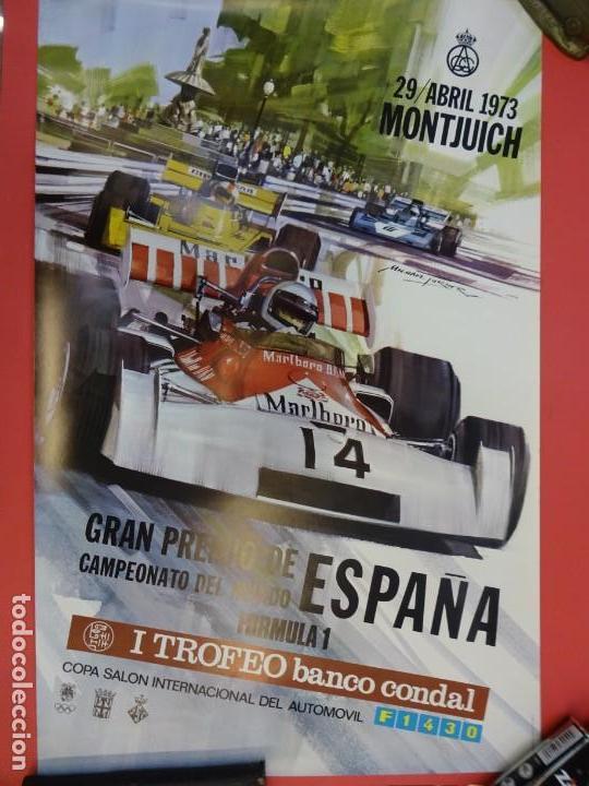 CARTEL ORIGINAL GRAN PREMIO DE ESPAÑA FORMULA 1. MONTJUICH. BARCELONA. 1973. 60 X 39 CTMS. EBC (Coleccionismo Deportivo - Carteles otros Deportes)