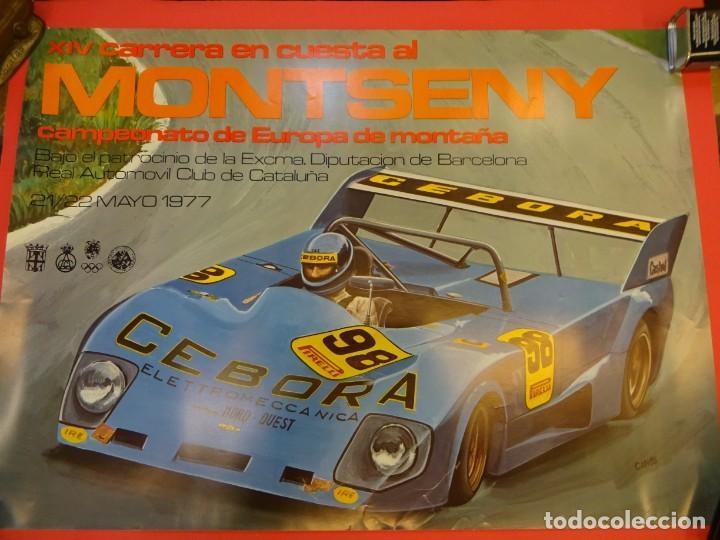 CARTEL ORIGINAL CARRERA EN CUESTA AL MONTSENY. MAYO 1977. 60 X 44 CTMS. EBC (Coleccionismo Deportivo - Carteles otros Deportes)