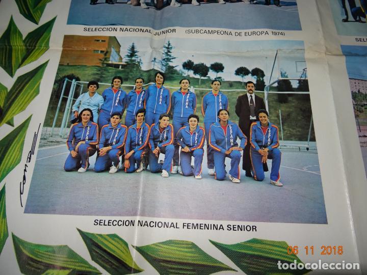 Coleccionismo deportivo: Antiguo Cartel de Selecciones Españolas de Baloncesto del Año 1973-74 Año Plata Baloncesto Español - Foto 6 - 139244554