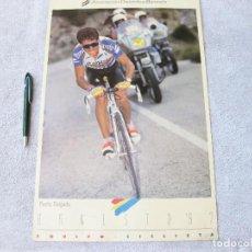 Coleccionismo deportivo: CARTEL PEDRO DELGADO. ASOCIACIÓN DEPORTIVA BANESTO. 1992. TARJETA POSTAL.. Lote 139609970