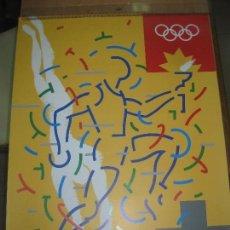 Coleccionismo deportivo: CARTEL BARCELONA 92.ALONSO /AYGUADE. JUEGOS DE LA XXV OLIMPIADA BARCELONA 1992.. 50 X 70 CM.. Lote 140123014