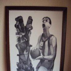Coleccionismo deportivo: (F-181146)JORDI ALUMA LITOGRAFIA HOMENAJE AL JUGADOR DE BASQUET EPI BARÇA,F.C.BARCELONA,NUMERADA. Lote 140387662