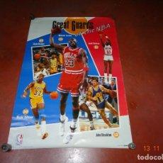 Coleccionismo deportivo: ANTIGUO CARTEL *GRAN GUARDIA DE LA NBA* CON MICHAEL JORDAN - CLYDE DREXLER DEL AÑO 1991. Lote 140469626