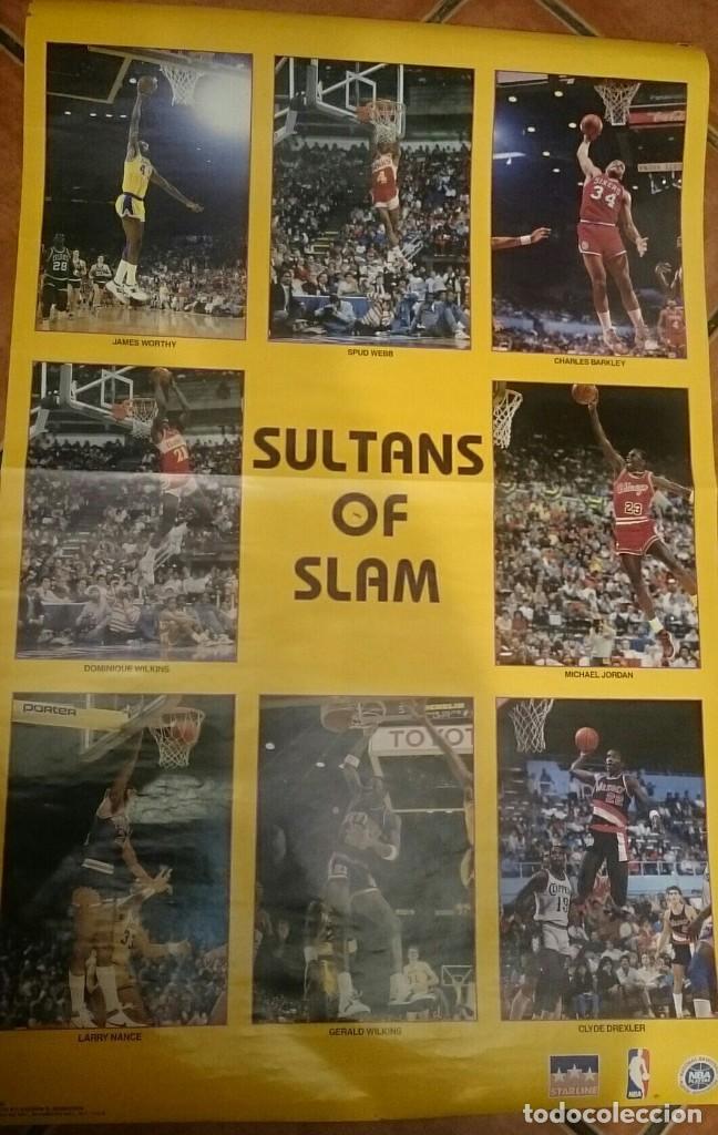 POSTER NBA SULTANS OF SLAM 1986 ANDREW D. BERNSTEIN COMPRADO USA MERCHANTE JORDAN WILKINS RARE (Coleccionismo Deportivo - Carteles otros Deportes)