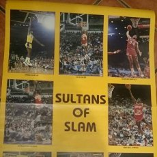 Coleccionismo deportivo: POSTER NBA SULTANS OF SLAM 1986 ANDREW D. BERNSTEIN COMPRADO USA MERCHANTE JORDAN WILKINS RARE. Lote 142304622
