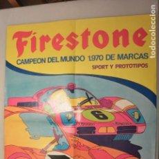 Coleccionismo deportivo: GRAN POSTER CARTEL FIRESTONE. CAMPEON MARCAS 1970. MIDE 68 X 52. Lote 143357894