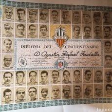 Coleccionismo deportivo: DIPLOMA CINCUENTENARIO UNION DEPORTIVA CICLISTA SANS 1971.TODOS LOS CAMPEONES DE LA «VOLTA» CICLISTA. Lote 144009305