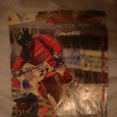 Coleccionismo deportivo: POSTER FIRMADO Y DEDICADO POR MARTIN RACING -VER FOTO -REFM3E2. Lote 145277926