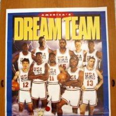 Coleccionismo deportivo: BALONCESTO - DREAM TEAM - OLIMPIADA BARCELONA 1992 - POSTER TAMAÑO 86 X 53. Lote 146417566