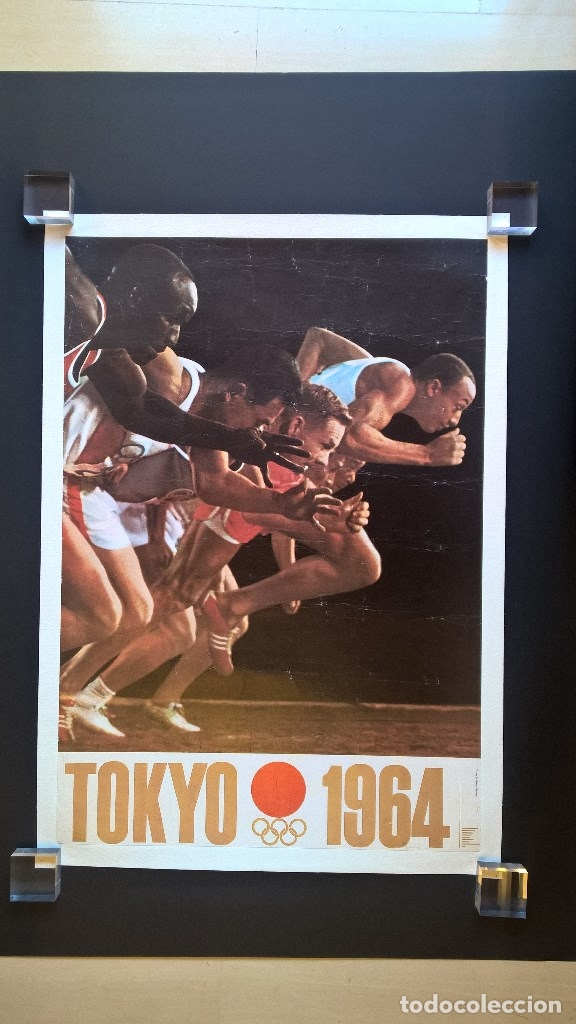 Coleccionismo deportivo: Yusaku Kamekura. Poster. Tokyo 1964. Tokio 1964. Juegos Olimpicos 1964. Olympic Games 1964 - Foto 2 - 146628666