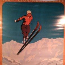 Coleccionismo deportivo: CARTEL CHAMONIX MONT BLANC OLIMPIADAS INVIERNO 1924. Lote 147834202