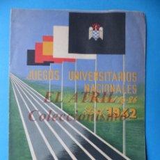 Coleccionismo deportivo: MADRID - ATLETISMO JUEGOS UNIVERSITARIOS NACIONALES - AÑO 1942 - M. GARNELO. Lote 149850014