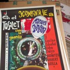 Coleccionismo deportivo: CARTEL ORIGINAL DEL HOMENAJE AL TENISTA MANOLO SANTANA - EN EL TOSALET - JAVEA 1970. Lote 150081930