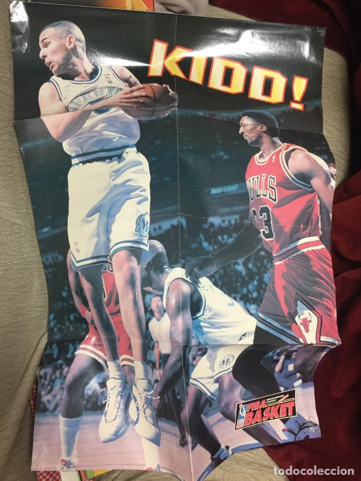 POSTER GRANDE KIDD FIBA BASKET NBA REVISTA MENSUAL MAVERICKS (Coleccionismo Deportivo - Carteles otros Deportes)