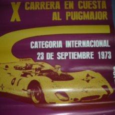 Coleccionismo deportivo: CARTEL DEPORTIVO X CARRERA EN CUESTA AL PUIGMAJOR CAMPTº ESPAÑA DE MONTAÑA Y DE CATALUNYA DE VELOCID. Lote 151074834