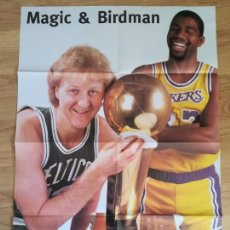 Coleccionismo deportivo: POSTER MAGIC Y BIRDMAN BASKETBALL XXL, LAKERS LOS ANGELES POSTER MAGIC Y BIRDMAN BASKETBALL XXL, LAK. Lote 152285762