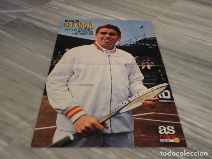 POSTER TENISTA MANUEL SANTANA - AS COLOR 24 (Coleccionismo Deportivo - Carteles otros Deportes)