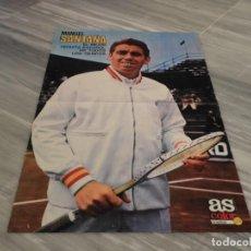 Coleccionismo deportivo: POSTER TENISTA MANUEL SANTANA - AS COLOR 24. Lote 152565194