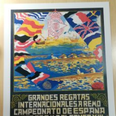 Coleccionismo deportivo: CARTEL REAL CLUB MARITIM DE BARCELONA 1914. Lote 152963505